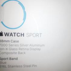 Apple Watch 38 mm sigilat - Smartwatch Apple, Aluminiu, Apple Watch Series 1