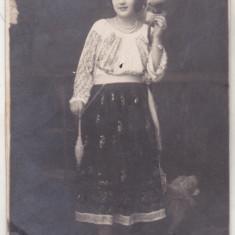 bnk foto Femeie in costum popular - Foto Lux Bucuresti 1923
