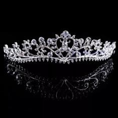 Diadema / coronita / tiara mireasa cu cristale tip Swarovski - Tiare mireasa