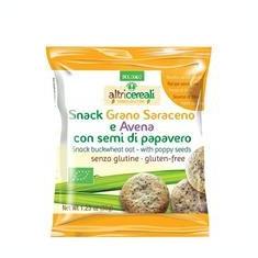 Snack Bio Fara Gluten din Hrisca si Ovaz cu Seminte Mac Probios 35gr Cod: 8018699019830
