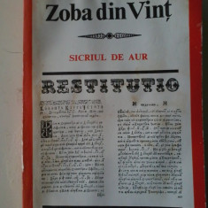 IOAN ZOBA DIN VINT - Sicriul de aur (colectia Restitutio) - Carte de rugaciuni