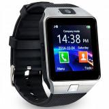 Ceas Smartwatch cu Telefon DZ09 Argintiu, Aluminiu, Tizen Wear, Apple Watch Series 2