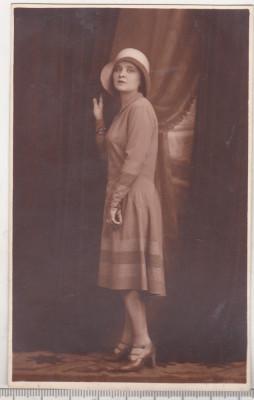 bnk foto Portret de domnisoara - Foto-Pax Ed Bucovsky Bucuresti 1929 foto