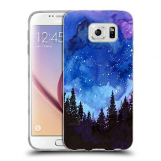 Husa Samsung Galaxy S6 Edge Plus G928 Silicon Gel Tpu Model Night Forest