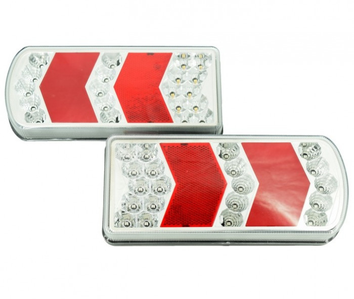 Lampa Stop Remorca Rulota Camion pe LED SMD 12v / 24V PRET PE SET  AL-TCT-5717