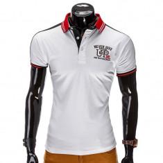 Tricou polo barbati S508 alb   NEW MODEL - Tricou barbati, Marime: S, M, Maneca scurta, Bumbac