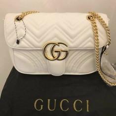 GENTI GUCCI/NEW MODEL /ACCESORII AURII - Geanta Dama Gucci, Culoare: Alb, Marime: Mica