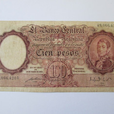 Argentina 100 Pesos 1935 (1943-1957) - bancnota america