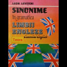 SINONIME ÎN GRAMATICA LIMBII ENGLEZE - LEON LEVIȚCHI - ESSENTIAL ENGLISH - TEORA - Curs Limba Engleza