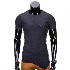 Tricou barbati NEGRU ANTRACIT S696 NEW MODEL, Marime: L, XL, XXL, Culoare: Din imagine, Maneca scurta, Bumbac
