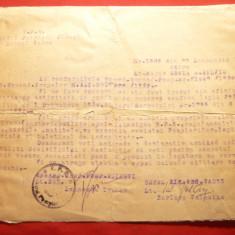 Adeverinta a Grupului I Pompieri Ploiesti 1955, cu antet - Hartie cu Antet