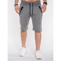 Pantaloni scurti barbati P511 Gri inchis - Bermude barbati, Marime: S, M, L, XL, XXL, Culoare: Din imagine, Bumbac