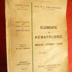 Dr.A.Hagi Paraschiv - Elemente de Hematologie - Ed.1936