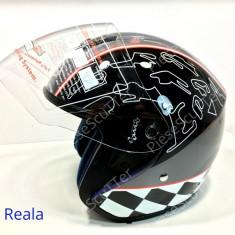 Casca Moto Scuter - ATV De Vara Open Face ( L - 59 - 60cm ), Marime: L