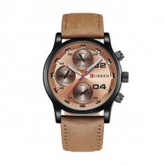 Ceas casual barbatesc Quartz 8207-4, bronz bronz Curren - Ceas barbatesc
