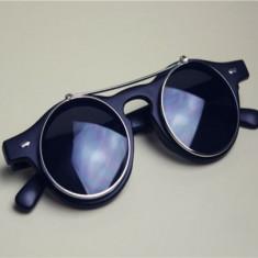 Ochelari De Soare Vintage / Retro / Steampunk Style - Lentile Rotunde - Model 1