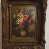 Tablou : Flori de camp cu maci - Pictor roman, Ulei, Altul