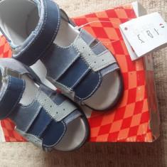 Sandale unisex din piele - Sandale copii Made in Italia, Marime: 24, Culoare: Albastru