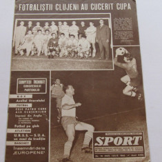 Revista SPORT- iulie 1965 (STIINTA CLUJ-castigatoarea Cupei Romaniei)