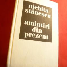 Nichita Stanescu - Amintiri din prezent - Ed. Sport 1985, comentariu Gh.Tomozei