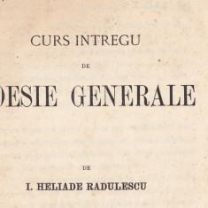 I. Heliade Radulescu, Curs intregu de poesie generale, Bucuresti 1868