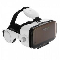 Ochelari VR case cu lentile 3D generatia 4.0 cu casti incorporate + + telecomanda/controler, alb