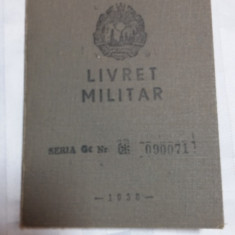 LIVRET MILITAR RPR - RADIOTELEGRAFIST - INCORPORAT 1930 LA FLOTILA SOMESENI CLUJ