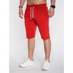 Pantaloni scurti barbati P512 rosu - Bermude barbati, Marime: S, M, L, XXL, Culoare: Din imagine, Bumbac