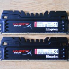Kit Memorie Ram Kingston HyperX Beast 8 GB (2X4) 2400Mhz DDR3 Desktop., Peste 2000 mhz, Dual channel