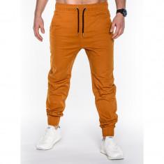 Pantaloni barbati P435 CAMEL, model NOU, Marime: S, M, L, XL, XXL, Lungi, Bumbac