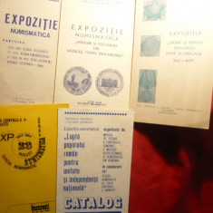 Lot 5 Cataloage Expozitii Numismatice