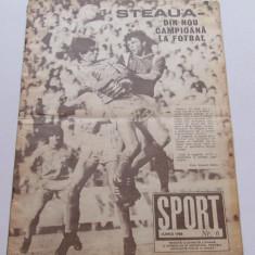 Revista SPORT-iunie 1988 (STEAUA Bucuresti-campioana Romaniei)