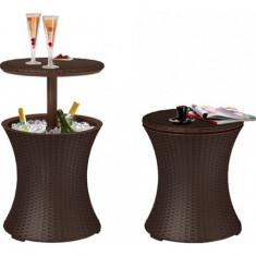 Mini Bar Gradina Rattan Whiskey Brown Curver 7290005828386