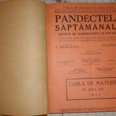 Pandectele saptamanale revista de jurisprudenta si doctrina anul XVI /1940/780pa - Carte Jurisprudenta