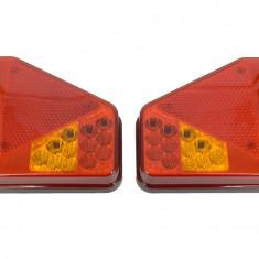 Lampa Stop Remorca Rulota Camion pe LED SMD 12v / 24V PRET PE SET AL-TCT-5716 - Tuning camioane