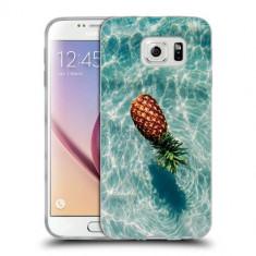 Husa Samsung Galaxy S6 Edge Plus G928 Silicon Gel Tpu Model Floating Pineapple - Husa Telefon