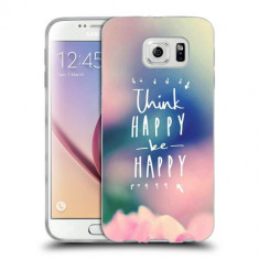 Husa Samsung Galaxy S6 Edge Plus G928 Silicon Gel Tpu Model Think Positive - Husa Telefon