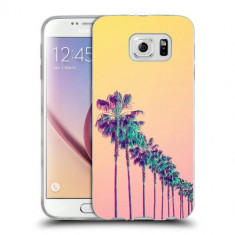 Husa Samsung Galaxy S6 Edge Plus G928 Silicon Gel Tpu Model Palm Trees - Husa Telefon