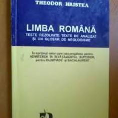 Theoder hristea limba romana