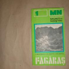 Muntii Fagaras nr.1 colectia muntii nostri cu harta