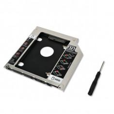Carcasa 9.5mm 2nd HDD, caddy SSD, adaptor rack pentru Apple Macbook