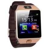 Ceas Smartwatch cu Telefon DZ09 Gold, Aluminiu, Argintiu, Tizen Wear, Apple Watch Series 2