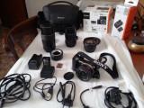 Pachet ap.foto Sony A5000 + 3 obiective + accesorii