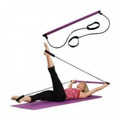 Aparat portabil pentru exercitii - Pilates - Extensor Fitness, Bara flexare