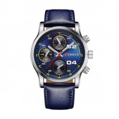 Ceas casual barbatesc Quartz 8207-2, albastru albastru Curren - Ceas barbatesc