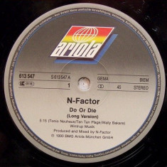 N-Factor - Do Or Die 1990 disc vinil Maxi Single Hip Hop - Muzica Hip Hop