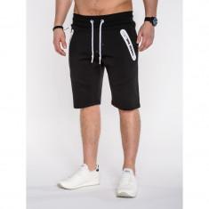 Pantaloni scurti barbati P511 Negru - Bermude barbati, Marime: S, M, L, XL, XXL, Culoare: Din imagine, Bumbac