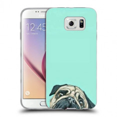 Husa Samsung Galaxy S6 G920 Silicon Gel Tpu Model Curious Pug - Husa Telefon