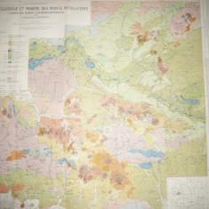 Harta geologica si miniera a Muntilor Metaliferi, 1932-1937 autori TP Ghitulescu