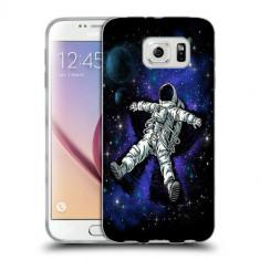 Husa Samsung Galaxy S7 Edge G935 Silicon Gel Tpu Model Space Astronaut - Husa Telefon